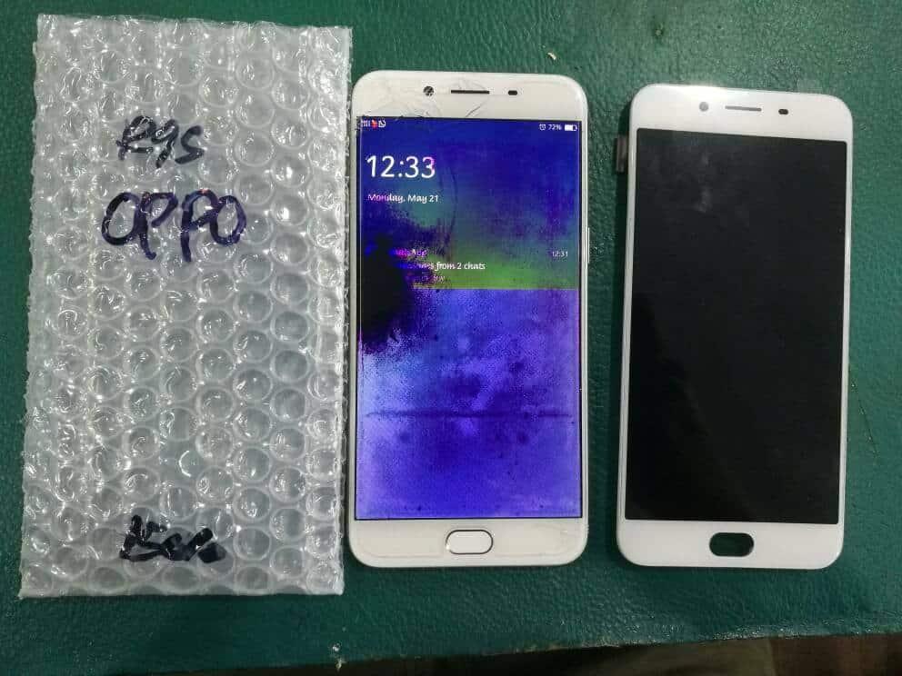 Ganti LCD Oppo R9S