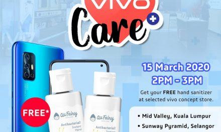 Vivo Memberikan Hand Sanitizer secara percuma!!